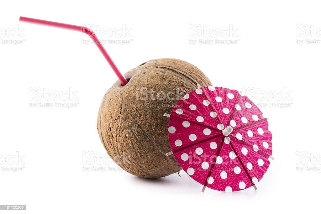 coconut coctail stock photo