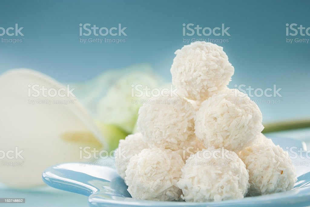 Coconut cookies stock photo
