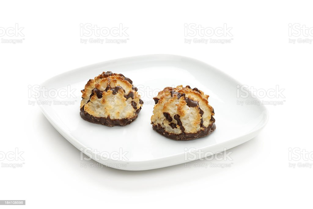 Coconut cookies royalty-free stock photo