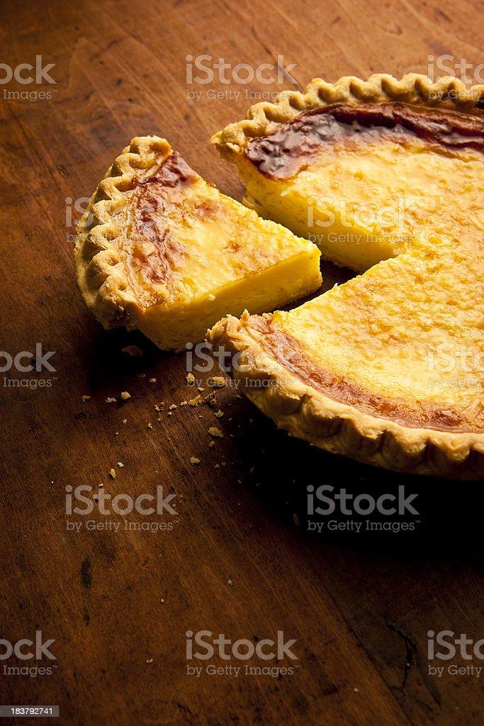 Coconut Custard Pie stock photo