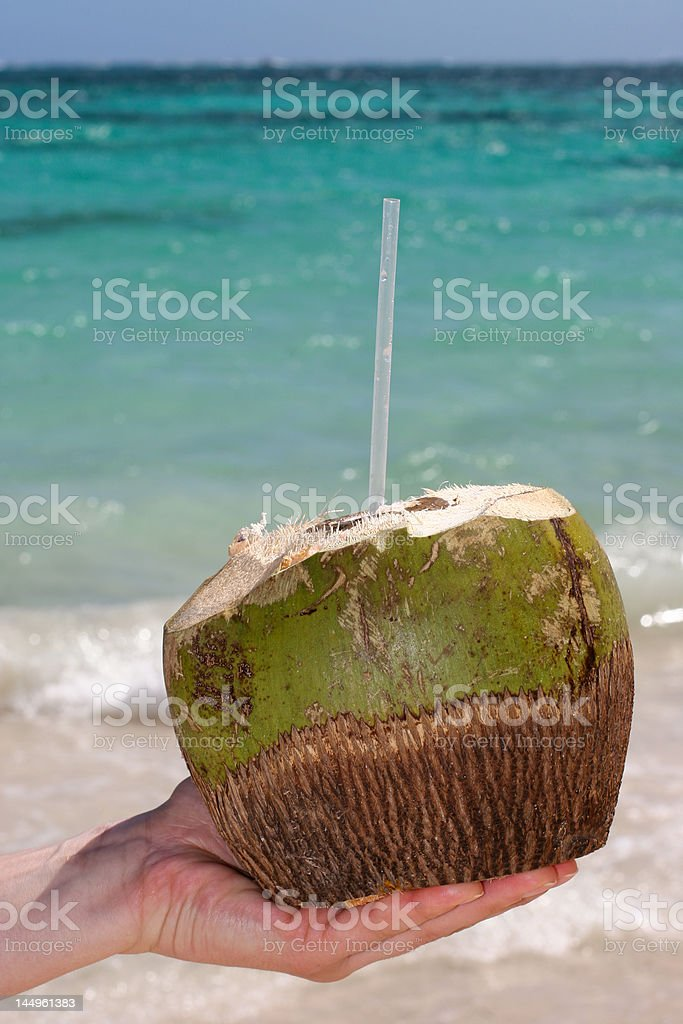 Coconut drink royalty-free stock photo