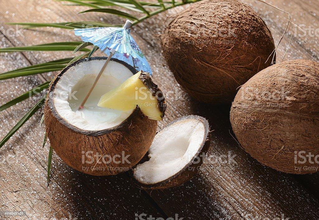 Coconut drink stock photo
