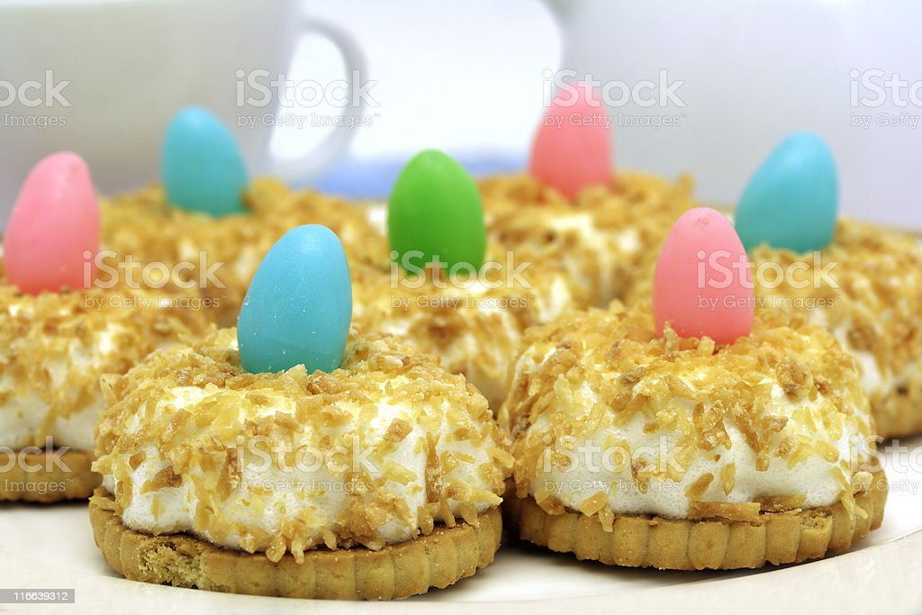 Coconut easter cakes royalty-free stock photo
