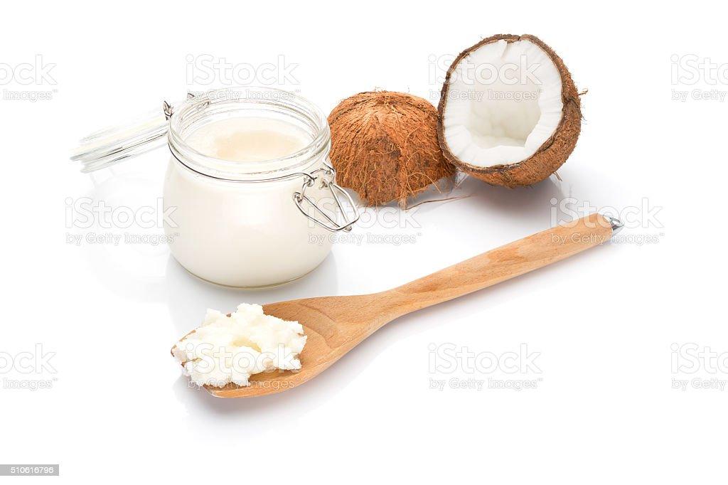 Coconut fat stock photo