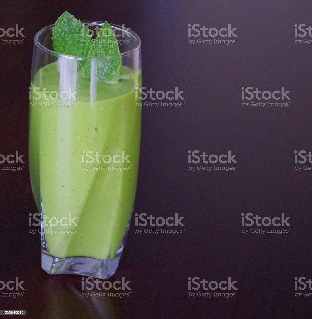 Coconut Green Shake stock photo