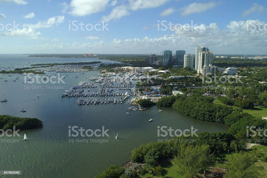 Coconut Grove landscape stock photo
