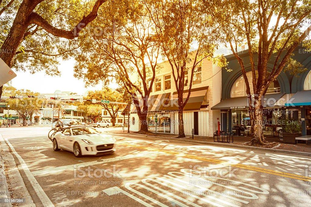 Coconut Grove, Miami stock photo