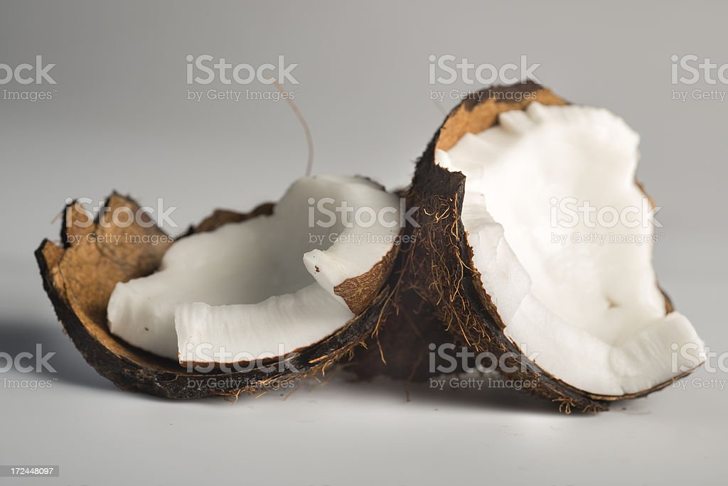 Coconut isolated on gray background royalty-free stock photo