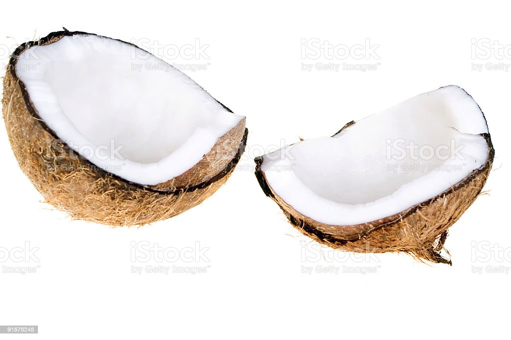 Coconut isolated royalty-free stock photo