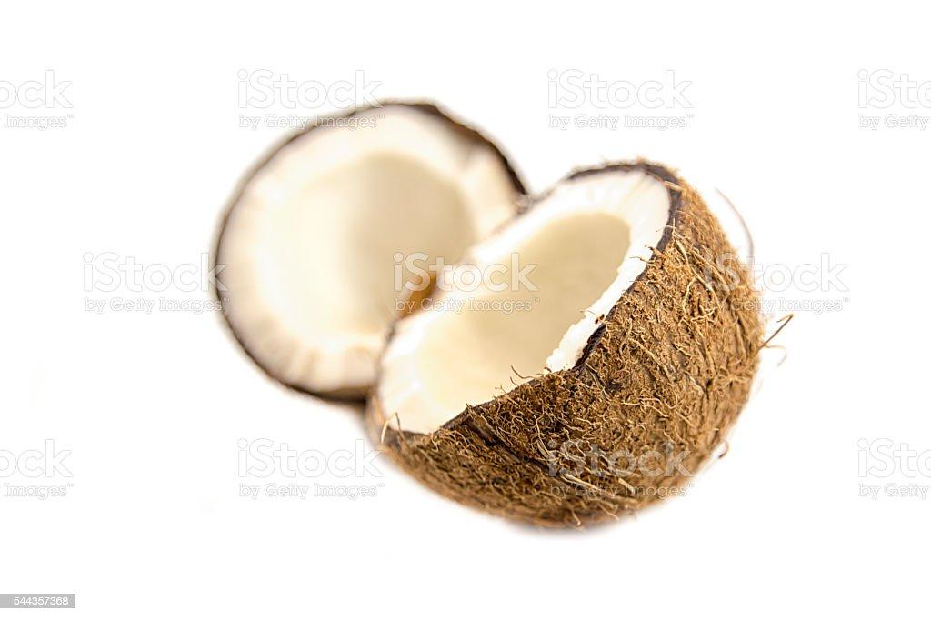 Coconut  isolated white background stock photo