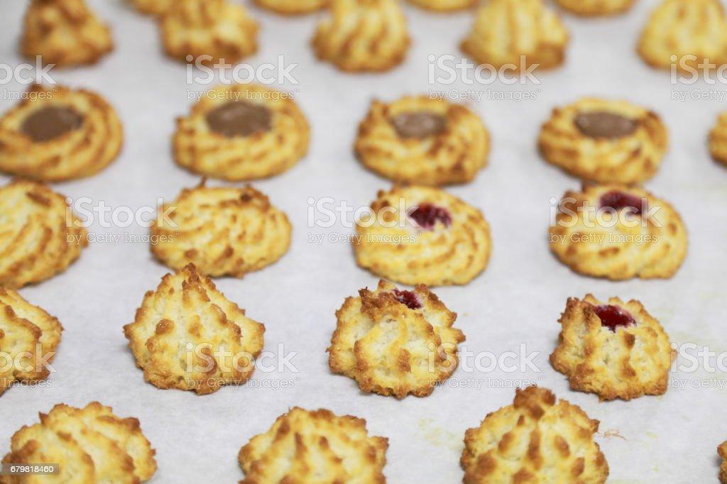 Coconut macaroon. stock photo