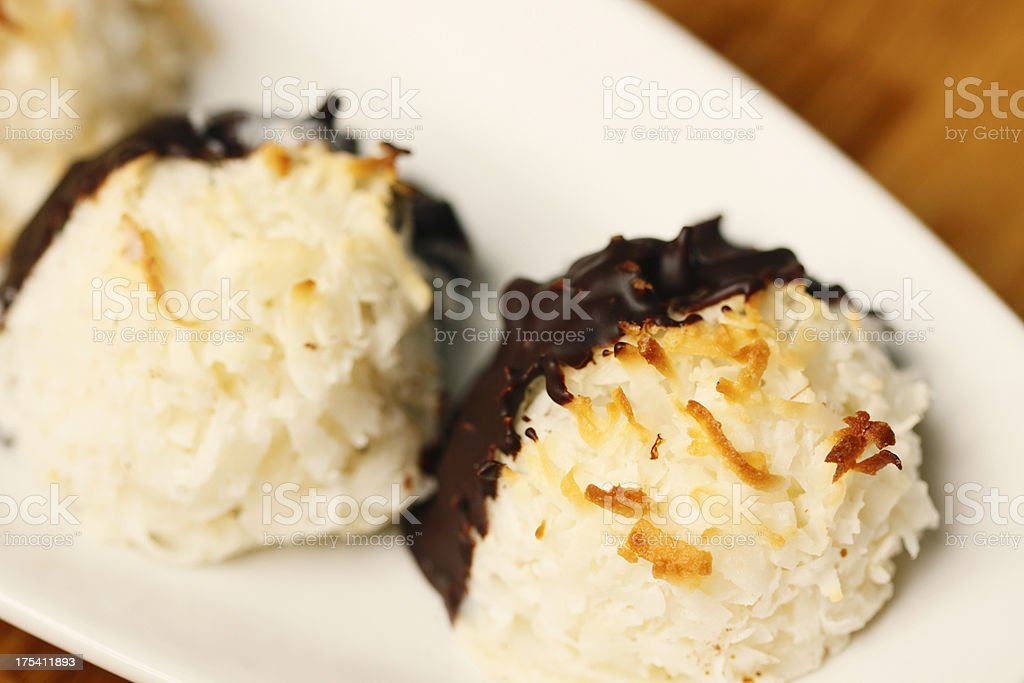 Coconut Macaroons royalty-free stock photo