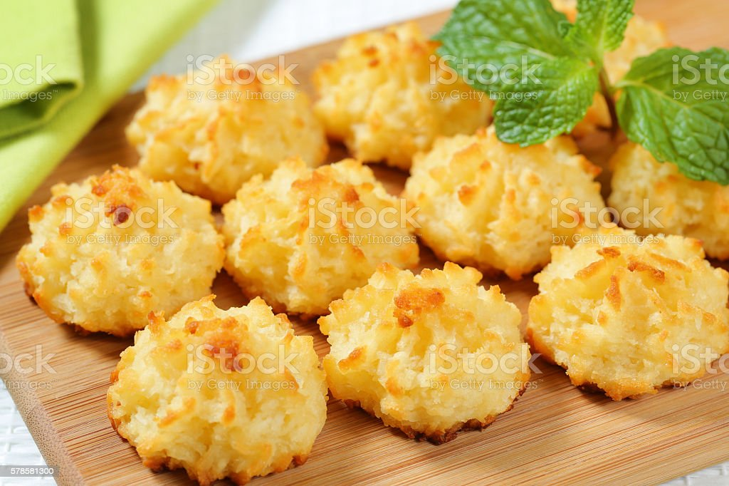 Coconut macaroons stock photo