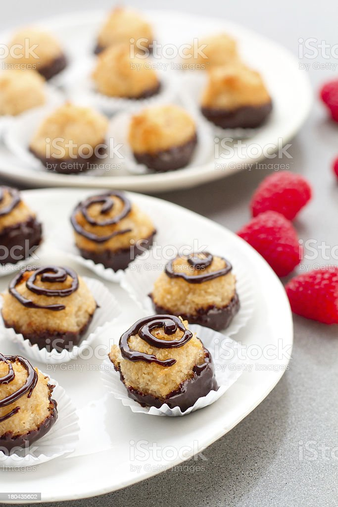 Coconut Macaroons - vertical royalty-free stock photo