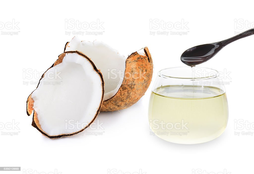 coconut oil isolated on white stock photo