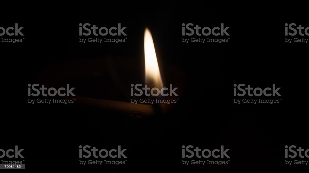 Coconut Oil Lamp stock photo