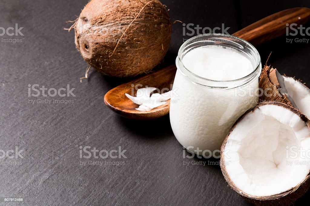 coconut oil stock photo