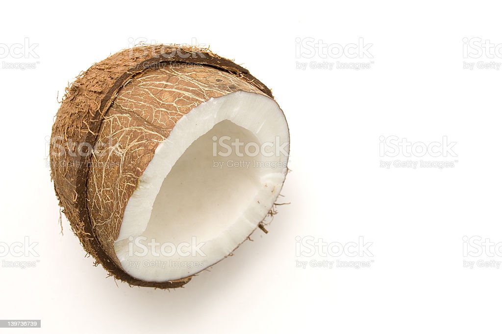 Coconut on white royalty-free stock photo