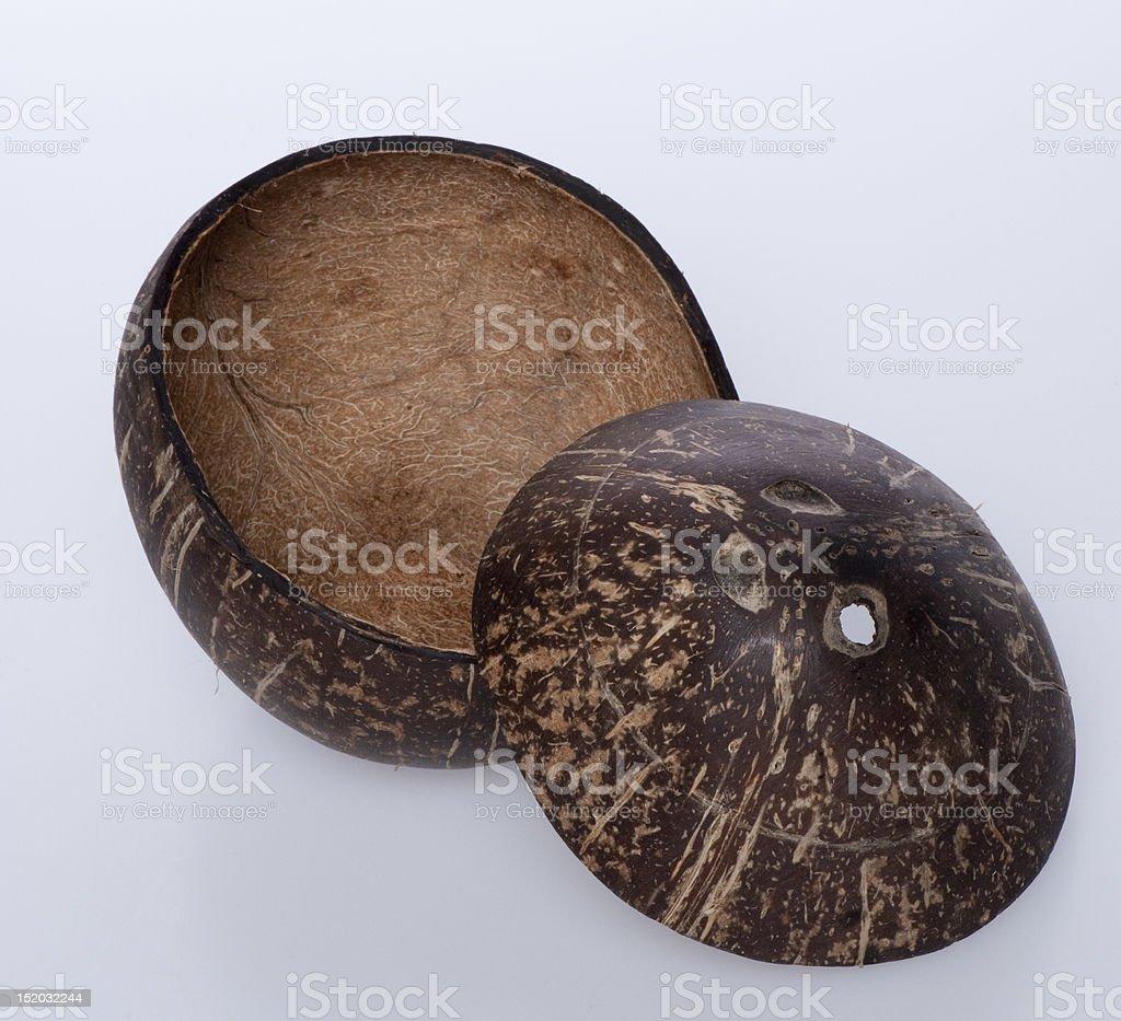 Coconut opend 2 stock photo
