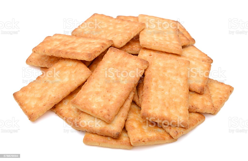 Coconut pastry biscuits isolated on white background stock photo