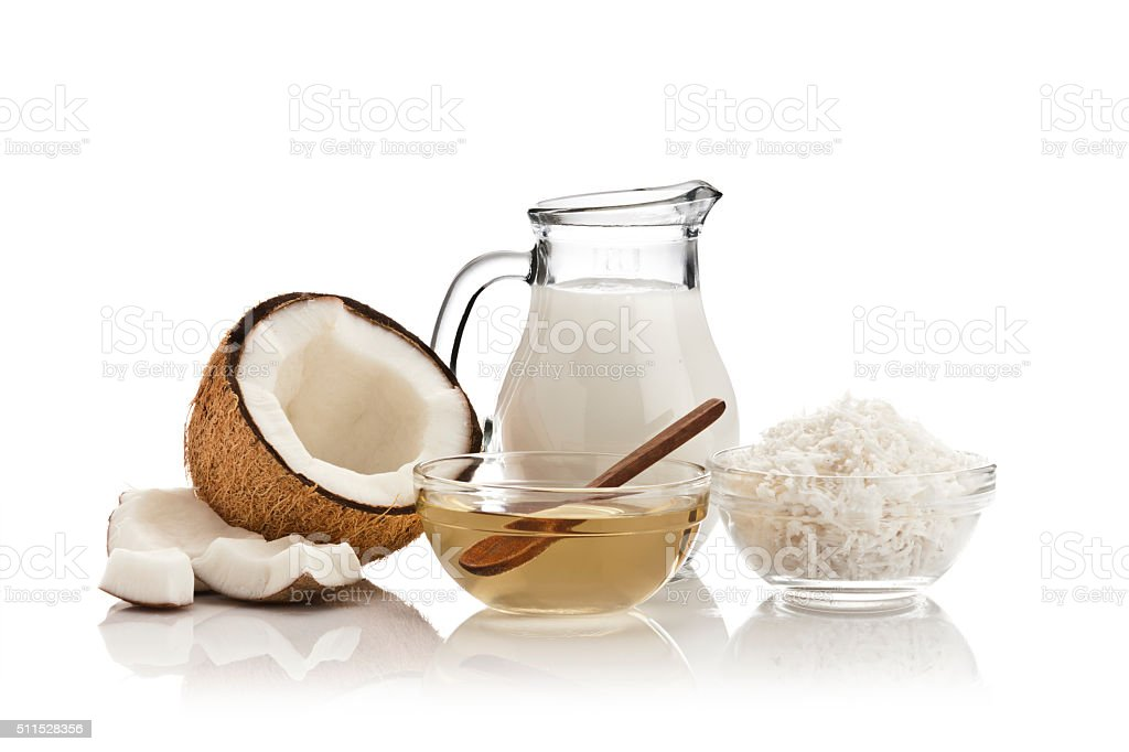 Coconut products stock photo