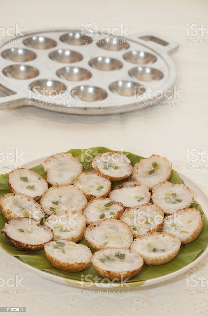 Coconut pudding is a kind of Thai sweetmeat. royalty-free stock photo