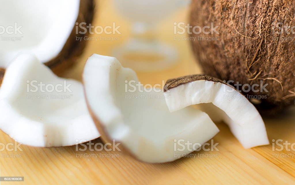 Coconut Shell and Pieces stock photo