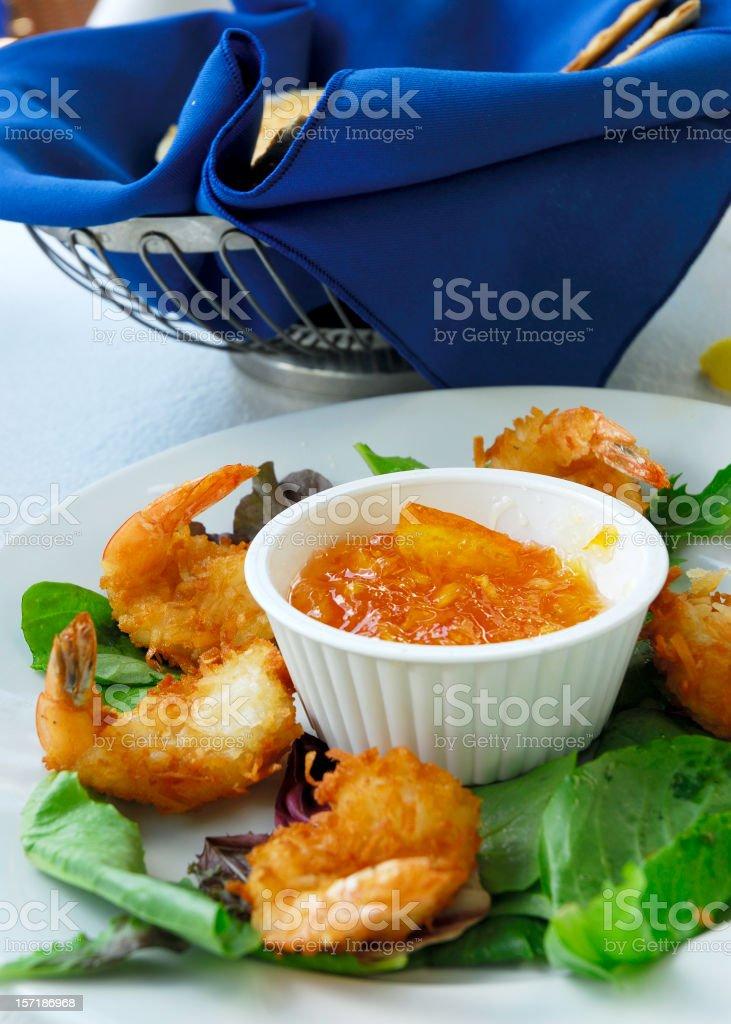 coconut shrimp royalty-free stock photo