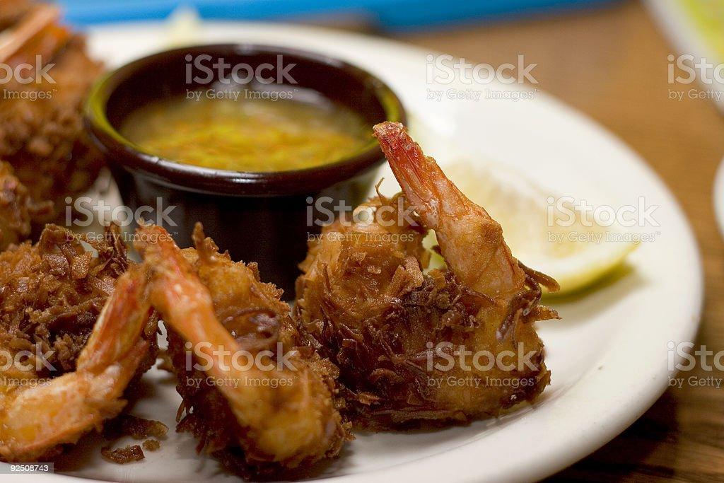Coconut shrimps stock photo