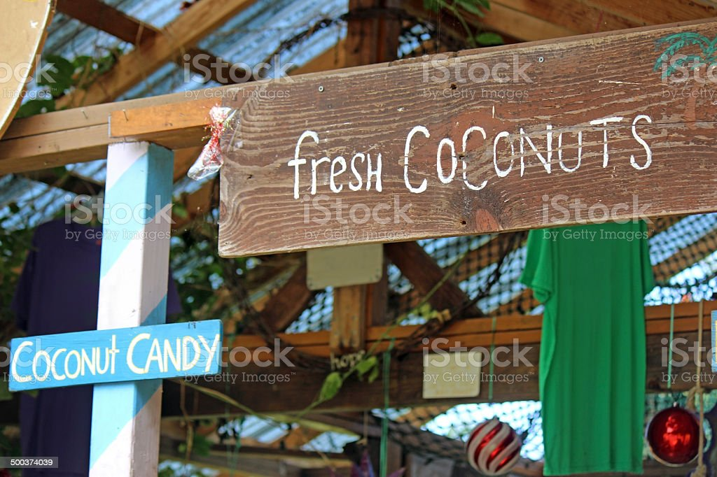 Coconut Stand stock photo