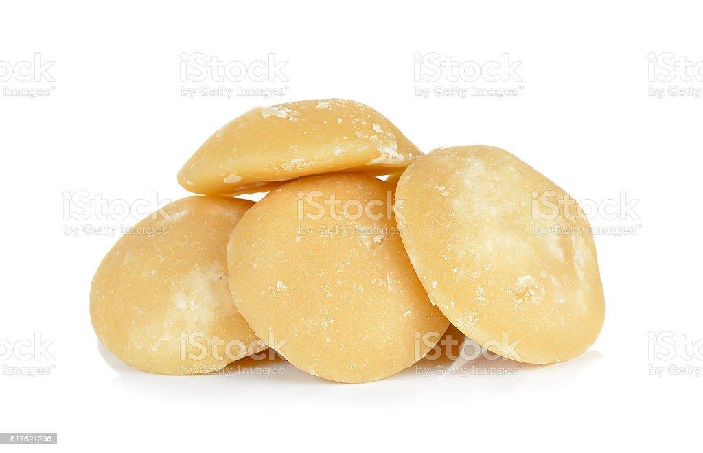 coconut sugar isolated on white background stock photo