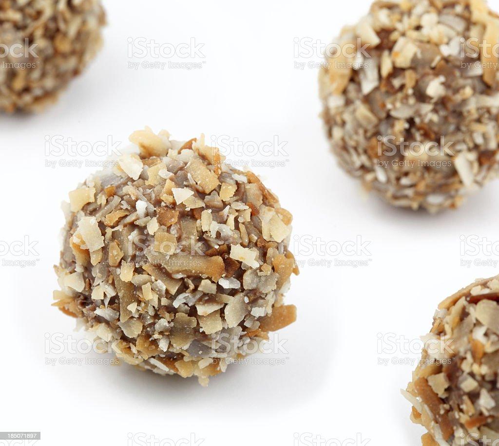 Coconut Truffles royalty-free stock photo