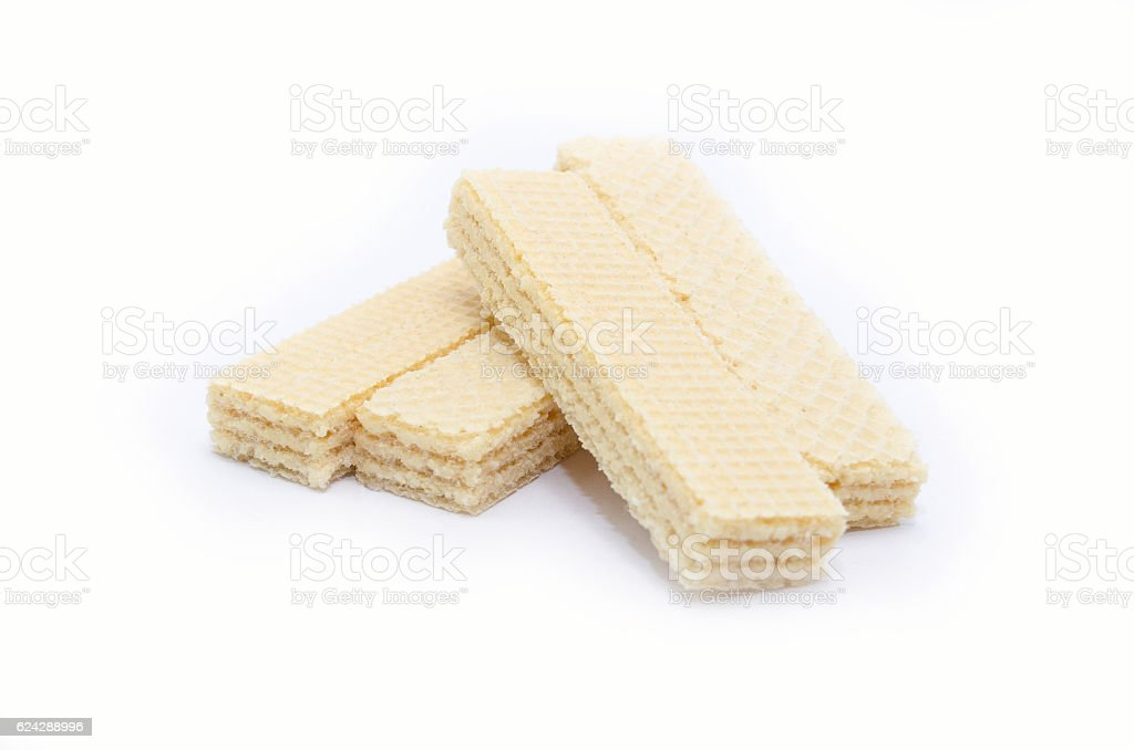 Coconut wafers isolated on white royalty-free stock photo