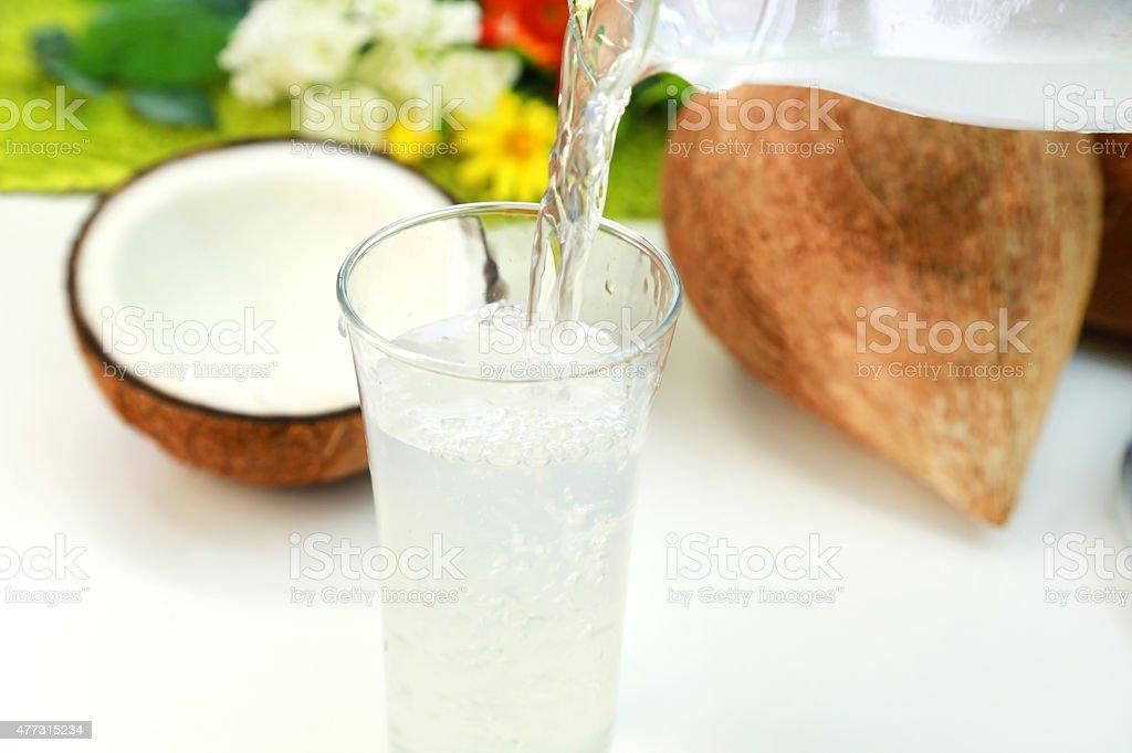 Coconut water stock photo