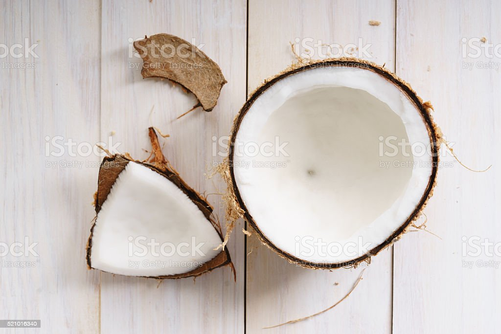 coconut with shell stock photo