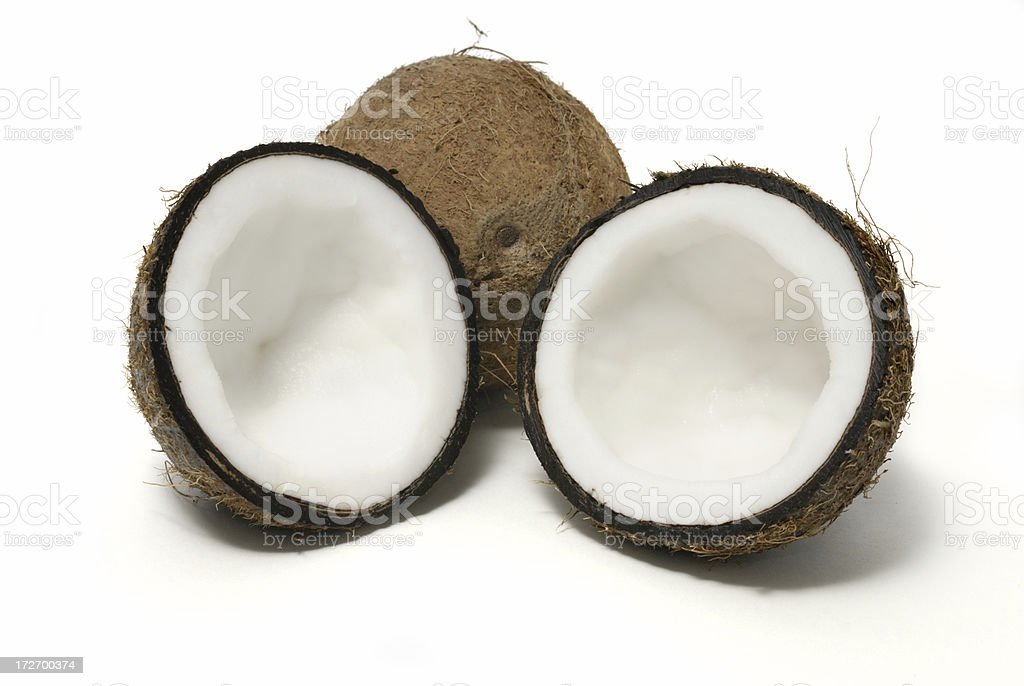 coconuts halves royalty-free stock photo