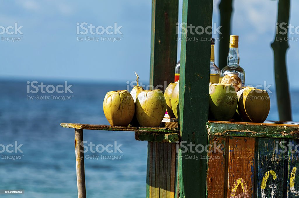 Coconuts in a Bar stock photo