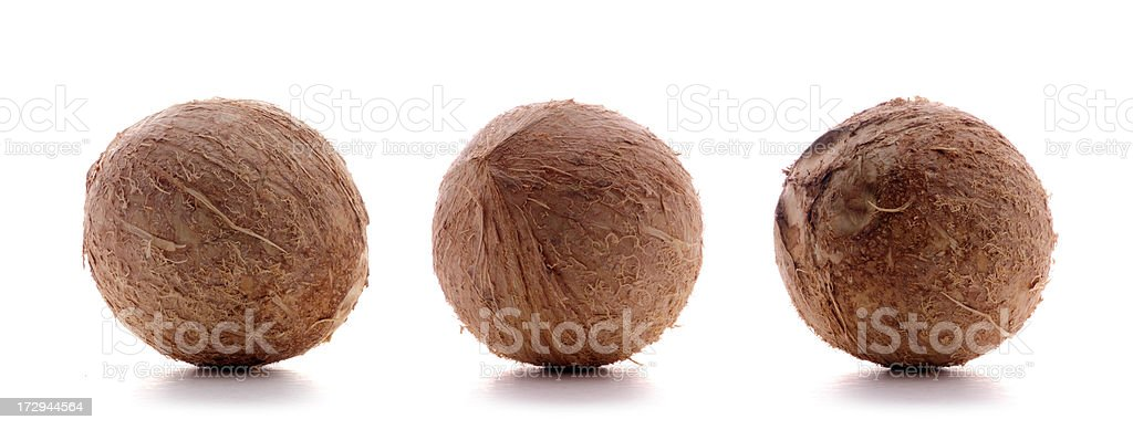 coconuts on white royalty-free stock photo