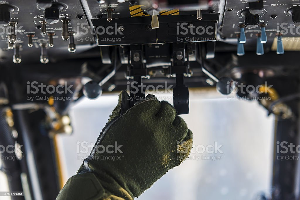 Cocpit Hand Control stock photo