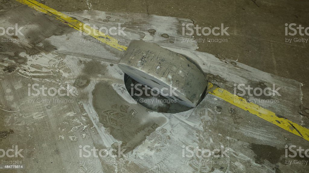 Cocrete cutting and coring stock photo
