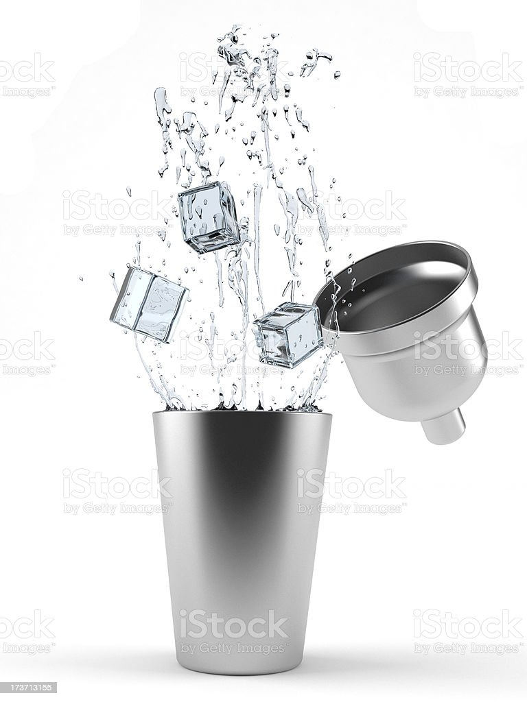 Coctail shaker stock photo