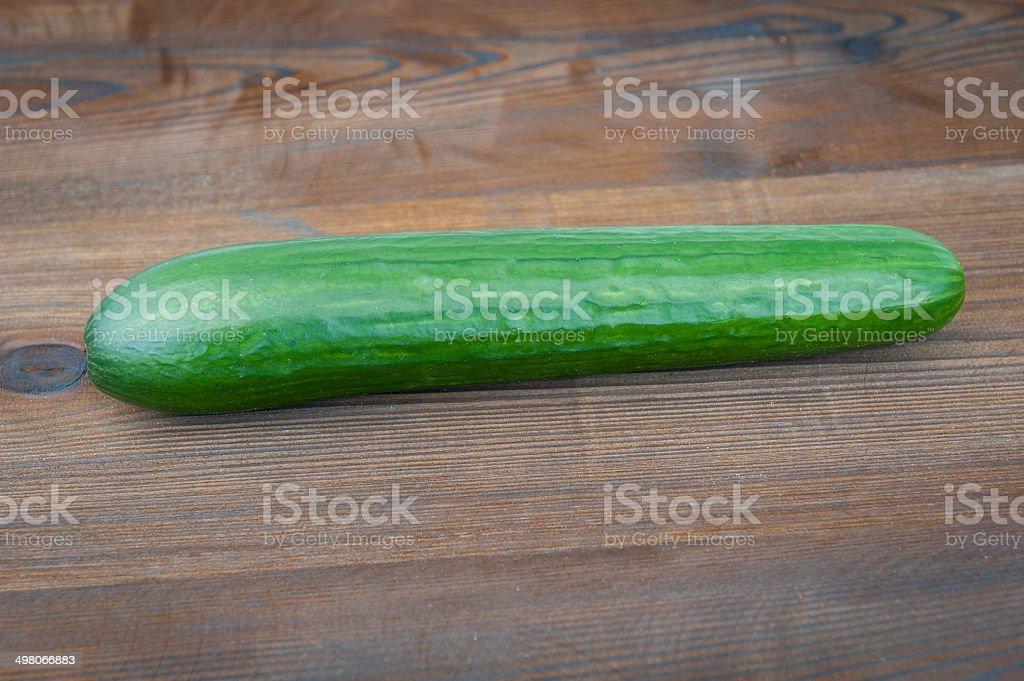 cocumber on wooden desk stock photo