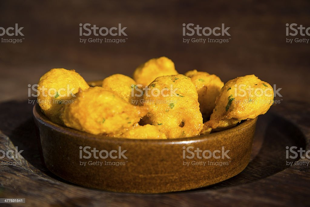 Cod croquettes royalty-free stock photo