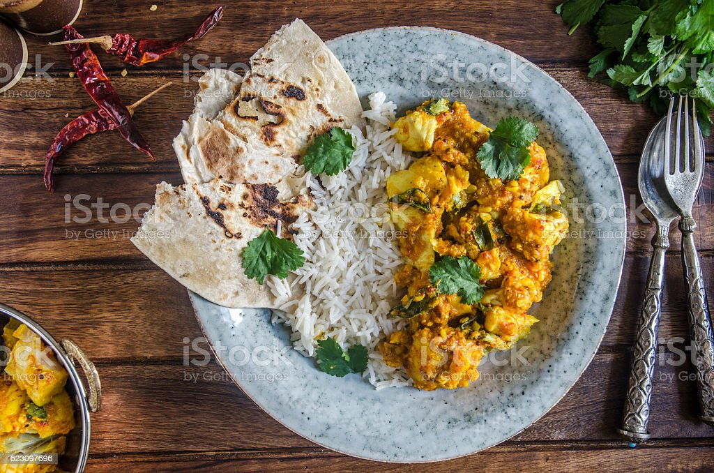 Cod curry stock photo