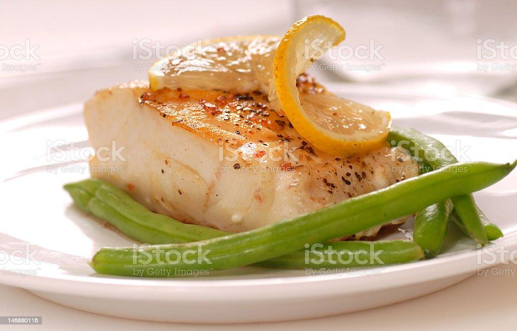 Cod filet stock photo