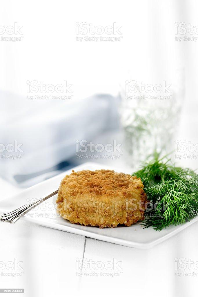 Cod Fish Cake II stock photo