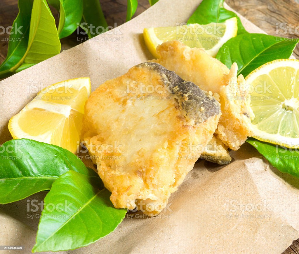 cod fried stock photo