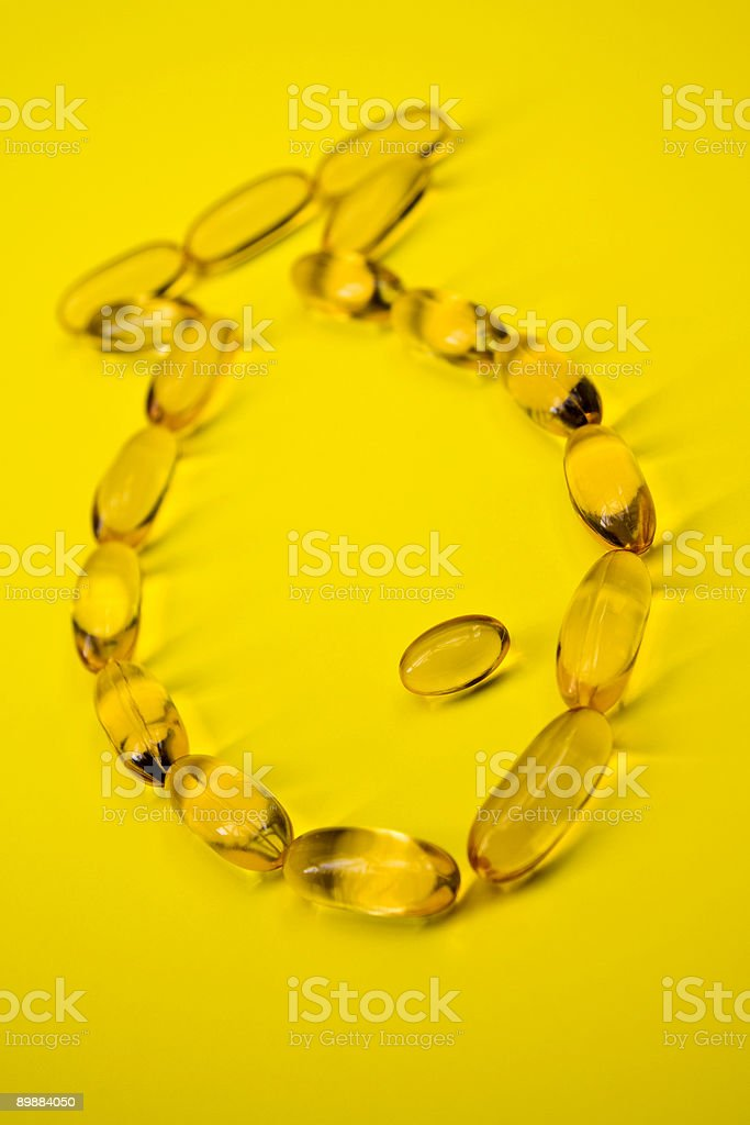 Cod liver fish oil royalty-free stock photo