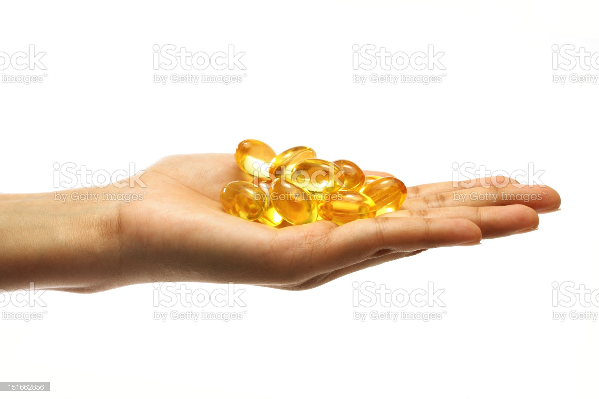 Cod liver oil pills royalty-free stock photo