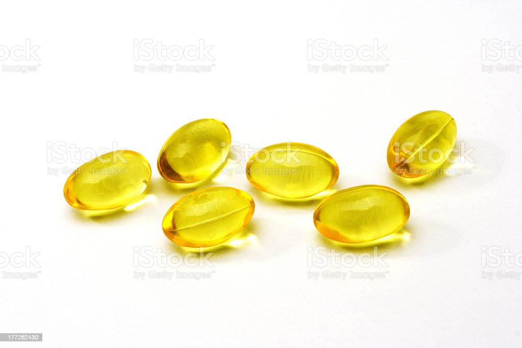 Cod liver oil pills stock photo